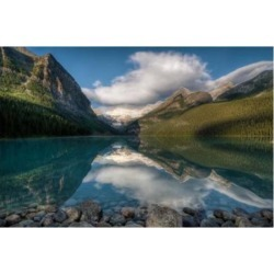 Posterazzi PDDCN02RKL0002 Lake Louise at Sunrise Banff National Park Canada Poster Print by Raymond Klass - 28 x 19 in.