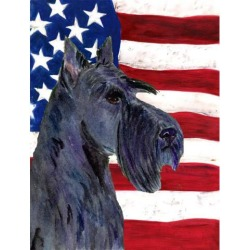 Carolines Treasures SS4014GF 11 x 15 in. USA American Flag with Scottish Terrier Garden Size Flag