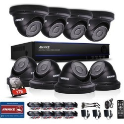 SANNCE 8 Channel DVR 1080P HD CCTV Security System with 1TB Hard Drive and (8) Dome Cameras Motion Detection Alarm & Remote View 100ft Night Vision found on Bargain Bro India from Newegg Business for $419.99