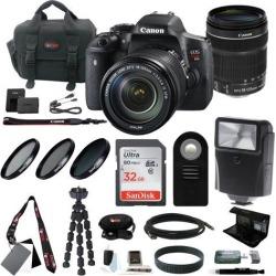 Canon EOS Rebel T6i DSLR Camera w/ EF-S 18-135mm f/3.5-5.6 IS STM Lens Bundle
