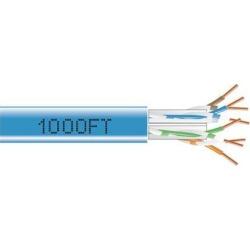 Black Box C6ABC51-BL-1000 1000Ft Cat6A 650Mhz Solid Cable Utp Cmp Blue