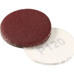 2-inch Hook and Loop Sanding Discs, 120-Grits Grinding Abrasive Aluminum Oxide Flocking Sandpaper for Random Orbital Sander 10pcs