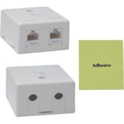 Cable Wholesale Cat 5e Duplex Surface Mount Box, Unshielded
