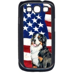 USA American Flag with Bernese Mountain Dog Cell Phone Cover GALAXY S111