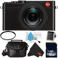 Leica D-Lux (Type 109) 12.8 Megapixel Digital Camera with 3.0-Inch LCD (Black) (18471) Bundle with 16GB Memory Card + More