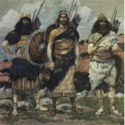 Posterazzi SAL999308 Three of Davids Captains James Tissot 1836-1902 French Jewish Museum New York USA Poster Print - 18 x 24 in.
