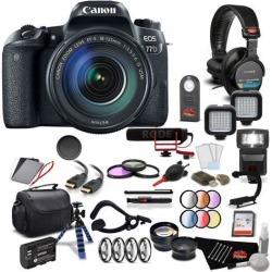Canon EOS 77D DSLR Camera with Canon EF-S 18-55mm f/3.5-5.6 IS STM Lens Pro Filmmaker Kit International Model