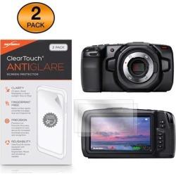 Blackmagic Pocket Cinema Camera 4K Screen Protector, BoxWave [ClearTouch Anti-Glare (2-Pack)] Anti-Fingerprint Matte Film Skin for Blackmagic Pocket