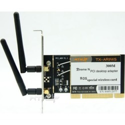 AR9223 PCI 300M 802.11b/g/n Wireless WiFi Network Adapter Atheros AR9223 pci desktop adapter with 2 Antenna for Windows XP/7/8/10/ROS found on Bargain Bro India from Newegg Business for $24.69