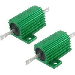 Unique Bargains Unique Bargains 2 pcs 25W 470 Ohm 5% Chassis Mounted Aluminum Clad Resistors Green