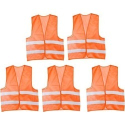 Reflective Mesh Design Security Vest for Jogging Traffic Safety Orange Red 5pcs found on Bargain Bro India from Newegg Canada for $21.81