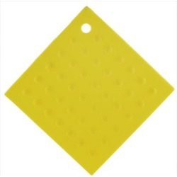 Household Square Shaped Anti-slip Heat Insulated Pot Mat Pad Holder Yellow