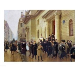 Posterazzi BALXIR19976LARGE Leaving The Lycee Condorcet 1903 Poster Print by Jean Beraud - 36 x 24 in. - Large