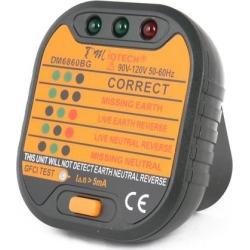 DM6860BG US Plug AC 110V/120V Power Socket Outlet Polarity Checker GFCI Test found on Bargain Bro India from Newegg Canada for $12.64