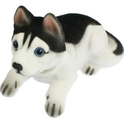 Unique Bargains Auto Fragrant Husky Nodding Bobblehead Dashboard Dogs Toys Black White