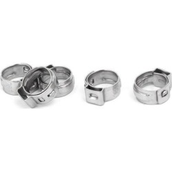 7mm-8.7mm 304 Stainless Steel Adjustable Cable Pipe Tight Hose Clamps 5pcs