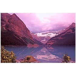 Posterazzi PDDCN01CSL0000 Dawn at Lake Louise Alberta Canada Poster Print by Charles Sleicher - 27 x 19 in.