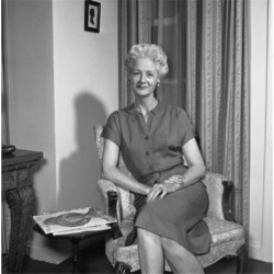 Posterazzi SAL255420775 Portrait of Mature Woman Sitting in Armchair Poster Print - 18 x 24 in.