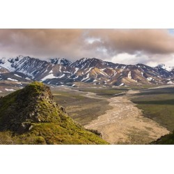 Posterazzi DPI12256262 Evening Scenic View of Polychrome Pass & The Plains of Murie Denali National Park Interior Alaska Print - 19 x 12 in.