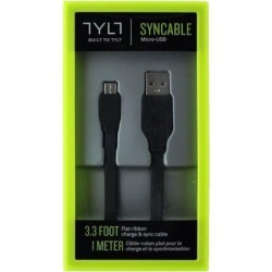 TYLT Syncable USB to Micro USB Sync & Charge Cable - Black - MIC-DATA1MBK-T
