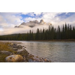 Posterazzi DPI1830269 Mountain Landscape Banff National Park Alberta Canada Poster Print by Philippe Widling, 17 x 11