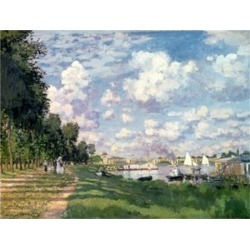 The Marina at Argenteuil, 1872 Poster Print by Claude Monet (32 x 24)