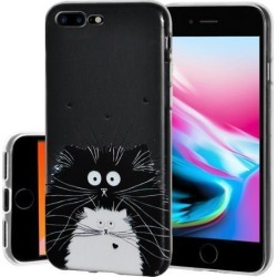 Soft Gel Clear TPU Skin Case - Cat for iPhone 8 Plus