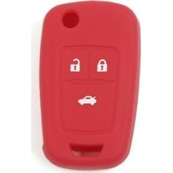 Unique Bargains Red Soft Silicone Car Key Holder Remote Fob Case Cover for Chevrolet 3 Buttons