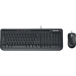 Microsoft APB-00006 Black Wired Keyboard and Mouse Set