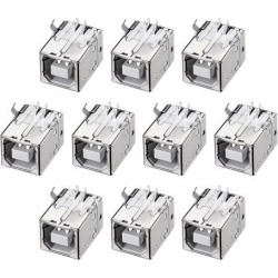 PCB USB Connector Type-B Female Jack 90 Degree DIP Printer Port 10Pcs found on Bargain Bro India from Newegg Canada for $6.47