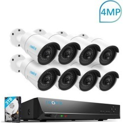 Reolink 4MP 16CH PoE Surveillance Camera System, 8 x Wired Outdoor 1440P PoE IP Cameras, 5MP/4MP Supported 16 Channel NVR Security System w/ 3TB HDD found on Bargain Bro India from Newegg Business for $599.99