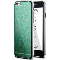 LUXENDARY GREEN PAISLEY DESIGN CHROME SERIES CASE FOR IPHONE 6/6S PLUS