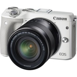Canon EOS M3 9772B011 White Mirrorless Digital Camera with 18-55mm Lens