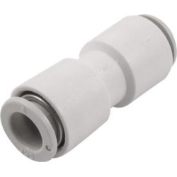 Unique Bargains 5/16' 8mm Pneumatic Tube Straight Push in Quick Connector One Touch Fitting