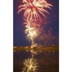 Posterazzi DPI1768031 Fireworks Display On Canada Day Sherwood Park Alberta Canada Poster Print by Carson Ganci, 11 x 17