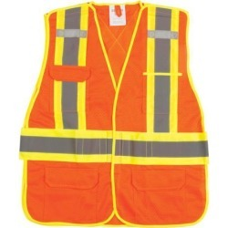 Zenith Safety Products CSA Compliant Surveyor Traffic Safety Vest, 4-Inch Reflective Stripes, Orange, X-Large found on Bargain Bro India from Newegg Canada for $18.72