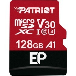 Patriot Memory 128GB EP Series MicroSDXC U3, A1, V30, 4K Memory Card with Adapter, Reads 90MB/s, Writes 80MB/s