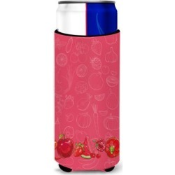 Fruits and Vegetables in Red Michelob Ultra Hugger for slim cans BB5133MUK