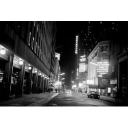 Posterazzi SAL255424361 USA New York City 44th Street Theatres Illuminated at Night Poster Print - 18 x 24 in.