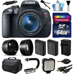 Canon EOS Rebel T5i 700D Digital Camera w/ 18-55mm Lens (64GB Essential Bundle)