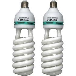 2pk 105W 5500K Photo Studio Bulb Video Photography Daylight Lighting Lamp CFL