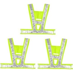 Reflective Mesh Design Security Vests for Jogging Traffic Safety Green 3pcs found on Bargain Bro India from Newegg Canada for $20.00