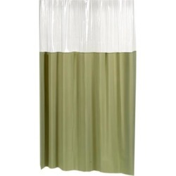 Carnation Home Fashions Living Room Decorative Window Vinyl Shower Curtain in Sage