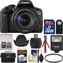 Canon EOS Rebel T6i Wi-Fi Digital SLR Camera & EF-S 18-135mm IS STM Lens with 32GB Card + Case + Flash + Tripod + Filter + Remote + Hood + Kit