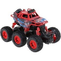Alloy 6 WD Climbing Vehicle Pull Back Car Toy for Kids Adults Red