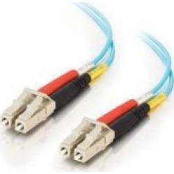 C2G 33046 OM3 Fiber Optic Cable - LC-LC 50/125 10Gb Duplex Multimode PVC Fiber C