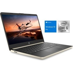 HP 14 Notebook, 14' HD Display, Intel Core i5-1035G1 Upto 3.6GHz, 8GB RAM, 256GB NVMe SSD, HDMI, Card Reader, Wi-Fi, Bluetooth, Windows 10 Pro