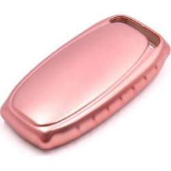 Pink Remote Key Case Holder Shell Protect Cover Fit For Audi A4L A6L A7 A8 S5