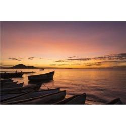 Posterazzi DPI12268470 Fishing Boats at Dusk Cape Maclear Lake Malawi - Malawi Poster Print - 19 x 12 in.