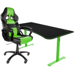 BUNDLE! Arozzi Monza Gaming Chair and Arena Gaming Desk - Green